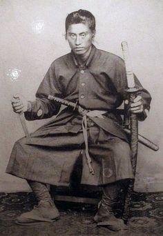 Samurai with two swords (daisho).