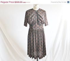 40 OFF SALE Vintage 60's Brown Black by perniejaynevintage on Etsy, $34.80