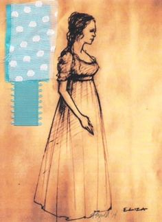 HAMILTON - Eliza Schuyler, 1800s costume sketch - Costume Design by Paul Tazewell