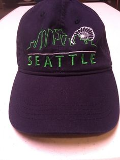 SEATTLE Vintage 90 s Hat Cap Unstructured Strapback Hat Baseball Cap   fashion  clothing  shoes a84dfa0f0cf1