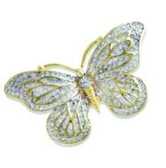 $67.5 Annaleece Madame Butterfly Brooch Made with Swarovski ElementsFrom Annaleece $67.5