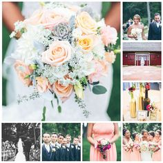 Wedding Flowers by Leigh Florist - Audubon, NJ - Photographer - Aaren Lee Photography - Venue -Brandywine Manor House #weddings #weddingflowers #leighflorist roses, spray roses, succulents, dahlias, garden roses, queen anne's lace, berries, lisianthus, dusty miller, peach, ivory, white, hot pink, gray