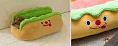 Hot-dog Pet Bed.