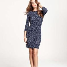 Black & White Polka Dot Side Ruched Dress