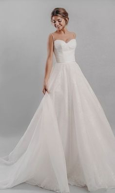 50 Princess Wedding Dresses Romantic, whimsical and dramatic, embrace the fairytale look with these flowing princess wedding dresses from the latest designers. Pretty Wedding Dresses, Stunning Wedding Dresses, Princess Wedding Dresses, Wedding Dress Styles, Bridal Dresses, Wedding Gowns, Wedding Rings, Modest Wedding, Casual Wedding