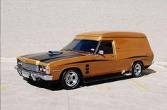 ◆ Visit MACHINE Shop Café... ◆ ~ Aussie Custom Cars & Bikes ~ (1978 HZ Holden Sandman Van)