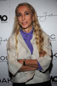 Franca Sozzani Photos - Franca Sozzani attends Sean Combs' October 2008 L'Uomo Vogue music issue cover celebration at 1OAK on October 22, 2008 in New York City. - Sean Combs Celebrates His October 2008 L'Uomo Vogue Music Issue