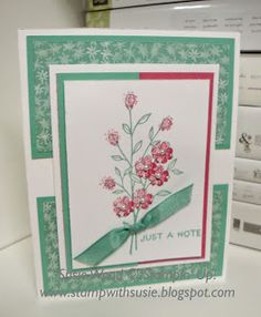 Stampin' Up!- Love these stemmed flowers from the new set- 'Touches of Texture'!