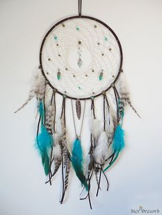 Gypsy Dreamcatcher Boho Wall Art Gypsy Decor Large by SierDreamS