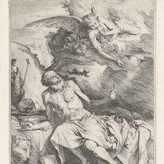 Heilige Hieronymus met de engel, Jusepe de Ribera, 1619 - 1623 - Rijksmuseum