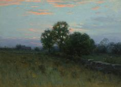 """Summer Sunset,"" Charles Warren Eaton, 1892, oil on canvas, 16 x 22"", private collection."