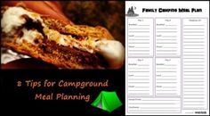 8 tips for Campground Meal Planning. (Plus free Camping Meal Planning #printable!)