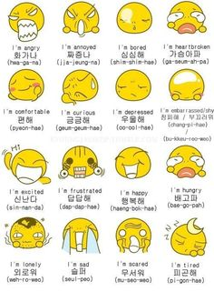 Emotions in Korean~