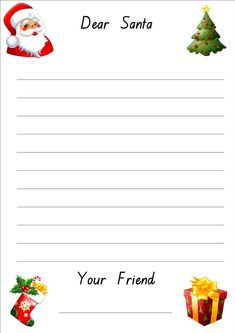 lined christmas paper for letters | Do your kids write letters to Santa every year?