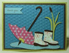 Crafting with Katie: Umbrella Thank You Card
