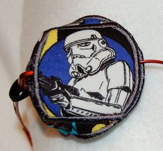Stormtrooper lazy eye patch made of licensed Star Wars fabric on Etsy, $15.00