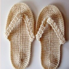 Flip Flop crochet pattern - awesome for pedicure days :)