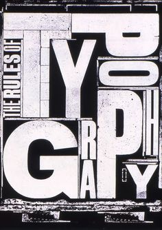 A grungey experimental typography