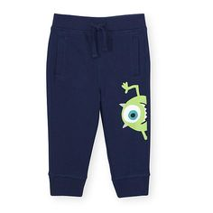 Join in on the frights with the Disney Baby Boys Black Monster's Inc. Mike Wazowski Knit Jogger Pants. With a classic skinny silhouette, ribbed cuffs, pull-on style…