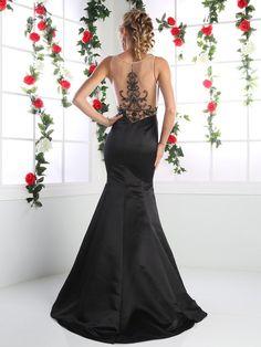 Designer Celebrity Mermaid Trumpet Illusion Neck Evening Gown Prom Wedding Dress