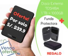 TOSHIBA DISCO DURO PORTABLE USB 3.0 HARD DRIVE 1TB --> VendoOfertas.com Visita nuestro facebook para mas ofertas: VendoOfertas.com #VendoOfertas ==================================>  1 año de Garantía - Capacidad de 1TB - Tipo de interfaz USB 3.0 - Velocidad de transferencia hasta 5Gb - Velocidad de rotación hasta 5400 RPM - Compatible con USB 2.0 - Plug and Play GARANTIA DE 12 MESES Contra defecto de fabricación. La garantía no cubre daños por golpes daños por agua o manipulación de los…