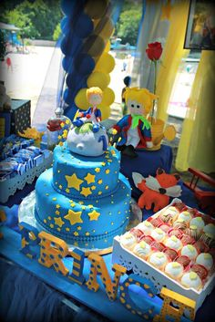 Little Prince Birthday Party cake!  See more party planning ideas at CatchMyParty.com!