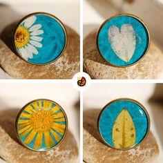 real flower rings