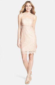 Jenny Yoo Cosette Spaghetti Strap Lace Dress