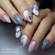 Nail Art Cute, Cute Nails, Stylish Nails, Trendy Nails, Colorful Nail Designs, Cute Nail Designs, Cute Spring Nails, Summer Nails, Diy Acrylic Nails
