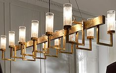 Chandeliers & Pendants - STRUCTURAL BRUSHED BRASS CHANDELIER