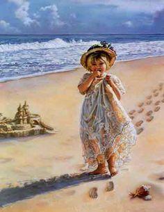 Footprints in the Sand ~ by Sandra Kuck