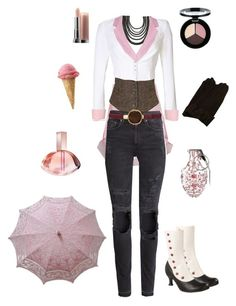 """""""Neo-RWBY"""" by conquistadorofsorts ❤ liked on Polyvore featuring Alice & You, Denim & Supply by Ralph Lauren, H&M, Dsquared2, Tory Burch, Streets Ahead, BaubleBar, Daniel Hechter, True Decadence and John Fluevog"""