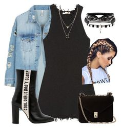 """Untitled #83"" by stylestyle97 ❤ liked on Polyvore featuring LE3NO, CÉLINE, Havva and Valentino"