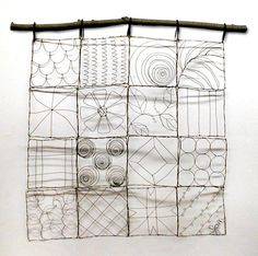 wire quilt. maybe for climbing plants