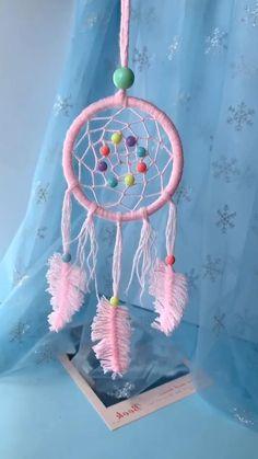Diy Crafts To Do, Rope Crafts, Diy Crafts Jewelry, Yarn Crafts, Dream Catcher Patterns, Dream Catcher Craft, Handmade Dream Catcher, Diy Dream Catcher For Kids, Dream Catchers