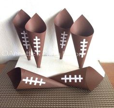 Football Snack Candy Cones for Birthday Football Party Baby Shower Sports Party on Etsy, $20.00