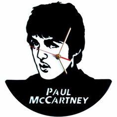 Reloj De Pared En Disco De Acetato,o Lp Paul Mccarney
