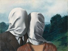René Magritte, Les Amants, 1928. Oil on canvas. National Gallery of Australia, Canberra, Australia.