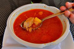 """Oil-slicked, paprika-stained """"rezancová polievka,"""" or chicken soup, is a central Slovak specialty that has a deeper flavor and a heartier broth than its American counterpart."""