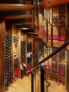 Wine Cellar Spiral Staircase : Best Solution For Small Space: Amazing Wine Cellar Design With Spiral Staircase Feats Wooden Rack ~ cultivor.com Staircase Design Inspiration