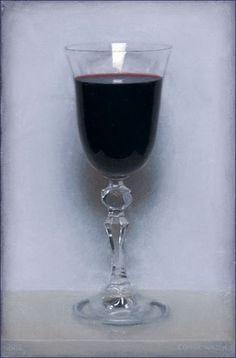 Conor Walton: Wine, oil on linen, 12x8, 2012