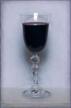 Conor Walton: Wine, oil on linen, 12x8, 2012
