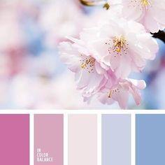 Ideas Flowers Blue Pink Color Schemes For 2019 Spring Color Palette, Colour Pallette, Spring Colors, Colour Schemes, Color Combos, Color Patterns, Spring Flowers, Pastel Colors, Colorful Flowers