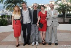 Actress Emily Hampshire dazzled in her Birks jewels at the photocall for David Cronenberg's movie Cosmopolis on May 25 in Cannes. She is seen here with co-stars Sarah Gadon, Robert Pattinson and Paul Giamatti as well as director David Cronenberg. #BirksGlamCannes