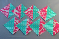 Half Square Triangles (HSTs): 8 at a Time!  This would make short work of a zig zag quilt.