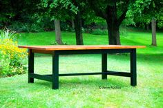 Country Rustic Farmhouse Dining Room Table and Bench Set  http://www.pennrustics.com/dining/country-rustic-farmhouse-dining-room-table-and-bench-set