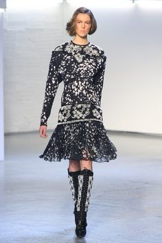 Pin for Later: Rodarte? More Like Radarte When It Comes to the Runway! Fall 2012 Black and white were paired together brilliantly on the Fall '12 runway.