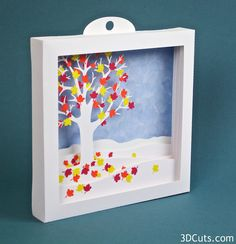 Falling Leaves Shadow Box - Large