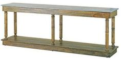 Currey and Company 3095 Sansom - Console, Distressed Slate top/Distressed Charcoal Finish