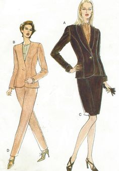 90s Very Easy Very Vogue Sewing Pattern 9320 Womens by CloesCloset